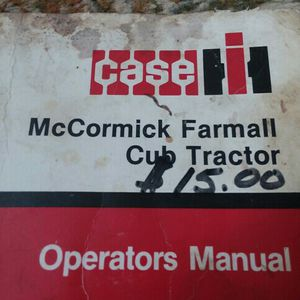 Case Farmall Operators Manual Cub for Sale in Valparaiso, IN
