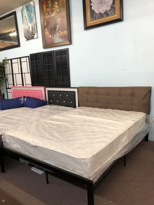 🎉Brand New Full size bed frame + Mattress Only $199, No Credit Needed Finance for Sale in North Highlands, CA