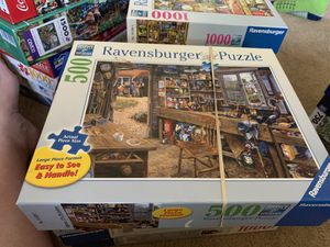 Ravensburger puzzles 9 in total 500 and 1000 piece for Sale in Graham, WA