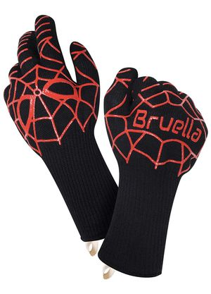 Bruella BBQ Grilling Gloves with Silicone | Extra Long Sleeves to Prevent Forearm Burns | Heat Resistant for Sale in Aurora, CO
