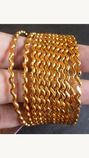 "22k gold plated bangles bracelet set size 2-6"" and 2-8"" for Sale in Silver Spring, MD"