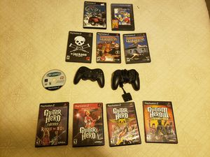 10 ps2 playstation games with controllers for Sale in Granite Falls, WA