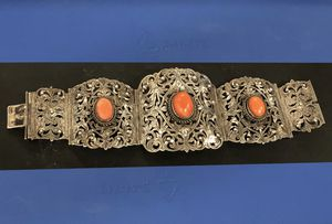 Stunning art nouveau silver & coral bracelet for Sale in Coraopolis, PA