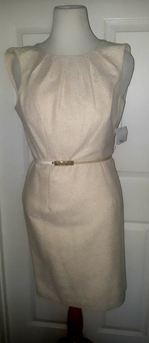 New Liz claiborne off white Metallic dress size 8 PD $139 for Sale in Virginia Beach, VA