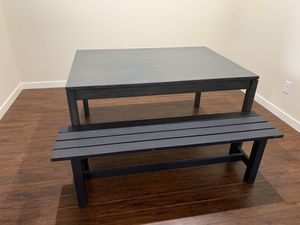 Dining table with bench for Sale in Puyallup, WA