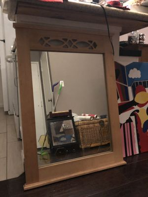 Big wooden wall mirror! for Sale in San Diego, CA