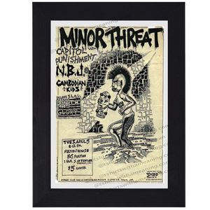 Minor Threat print mini concert poster flyer music for Sale in Covina, CA