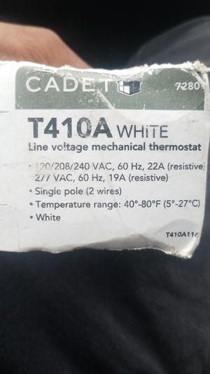 Cadet thermostat 120 v for Sale in Havertown, PA