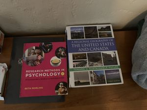 Chico state textbooks psych and geog for Sale in Chico, CA