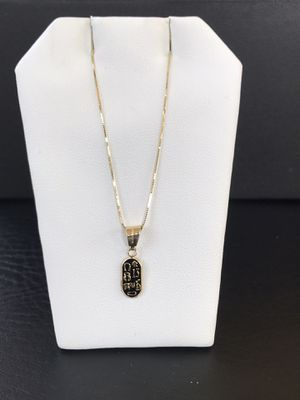 14k Real Gold Box Chain with Lucky Charm for Sale in Irvine, CA