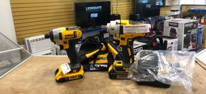"""Dewalt 20V Max XR Brushless 1/2"""" Impact Wrench & 1/4"""" Impact Driver w/3 Batts M#DCF894, DCF885 for Sale in Haverhill, MA"""