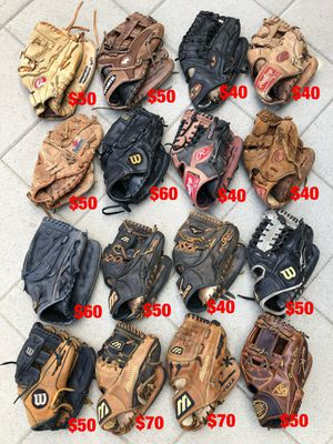 Baseball gloves equipment bats Wilson demarini mizuno Rolin easton for Sale in Los Angeles, CA