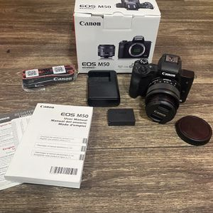 Canon Eos M50 Dslr Camera Open Box Complete Used Great Condition for Sale in Tempe, AZ