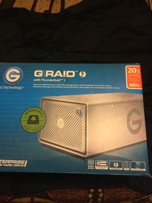 G-Technology 0G05763 G-RAID 20TB 2-Bay Thunderbolt 3 for Sale in Los Angeles, CA