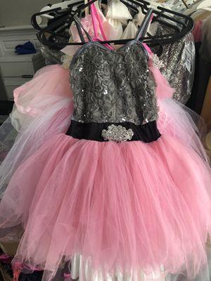 Flower girl pink tutu dress L 8/9 for Sale in Naperville, IL