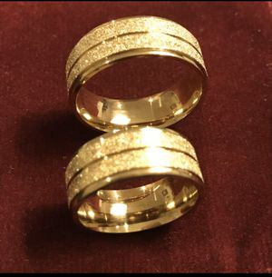 Unisex 18K Gold plated Matching Ring Set - ON SALE- Code A215 for Sale in Dallas, TX