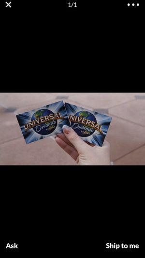 I need to purchase 2 -Universal Studio tickets today. for Sale in Sarasota, FL