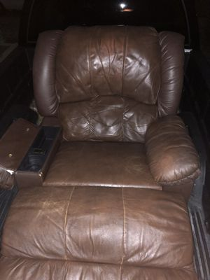 Brown leather chair great shape for Sale in Arvada, CO