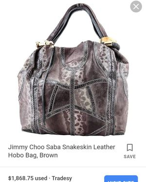 Authentic Jimmy choo purse for Sale in Henderson, NV