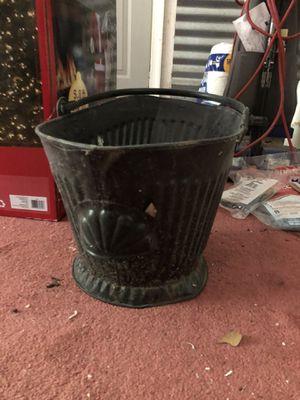 Vintage galvanized ash bucket for Sale in Virginia Beach, VA