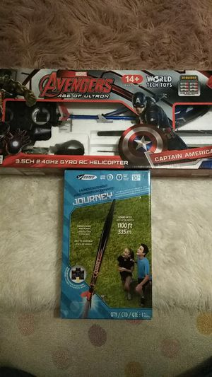 Captain America helicopter and journey rocket brand new for Sale in Beaverton, OR