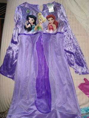 Disney princess nightgowns brand new size 8 tinkerbell ariel tiana Belle aurora cinderella for Sale in Los Angeles, CA
