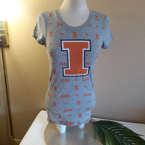 PINK vs ☆ University of Illinois ☆ collegiate fan gear BUNDLE ♡ t-shirt + sweatshirt + hat ♡ small