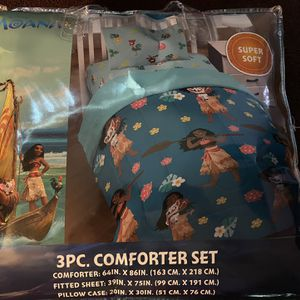 Moana 3 Pc Comforter Set for Sale in Los Angeles, CA
