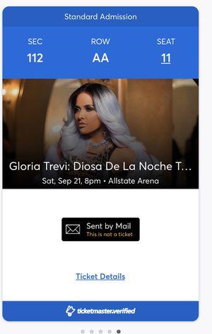 Gloria Trevi concierto Septiembre 21, 2019 1- boleto $130 for Sale in Chicago, IL