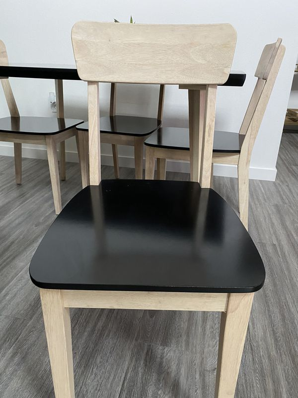 Black & Wood Dining table - 4 Person Table