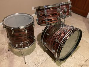 Vintage 1970's Ludwig Standard ruby strata drumset for Sale in Scottsdale, AZ