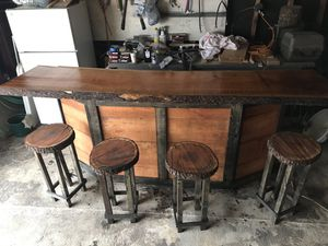 Cherry bar and stools for Sale in Zanesville, OH
