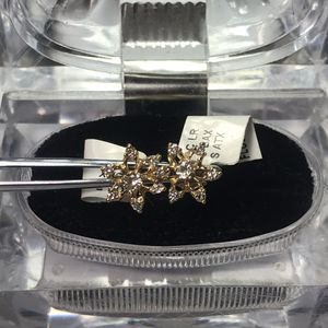 14k yellow gold diamond earrings for Sale in Baltimore, MD