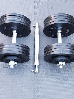 180 LB Yes4All Adjustable Dumbells Curl Bar Set Weights for Sale in Tacoma,  WA