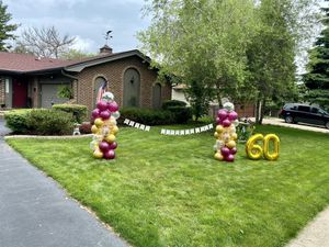 Happy anniversary balloon columns! Want to surprise someone special send us a message ❣️😉 for Sale in Elgin, IL