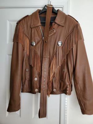 Custom Deerskin Leather Indian Motorcycle Jacket for Sale in Midlothian, VA