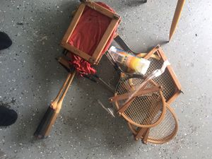Tennis rackets and Badminton- Vintage for Sale in Kernersville, NC