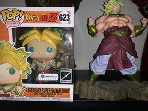 Dragon Ball Z Broly 6 in POP! and Statue for Sale in Silver Spring, MD