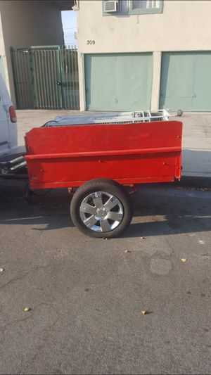SMALL TRAILER WITH RIMS AND GREAT TIRES TOO $250 for Sale in La Habra Heights, CA