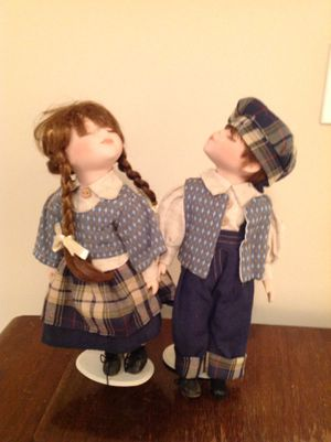 Vintage boy girl pair porcelain dolls for Sale in Tremont, IL