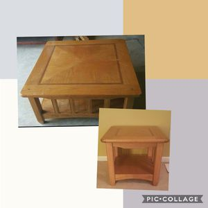 Solid Oak Coffee Table & End Table for Sale for sale  Norcross, GA