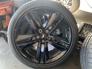"2015-2019 Ford Mustang 19"" wheels tires oem black rims limited factory for Sale in Fremont, CA"