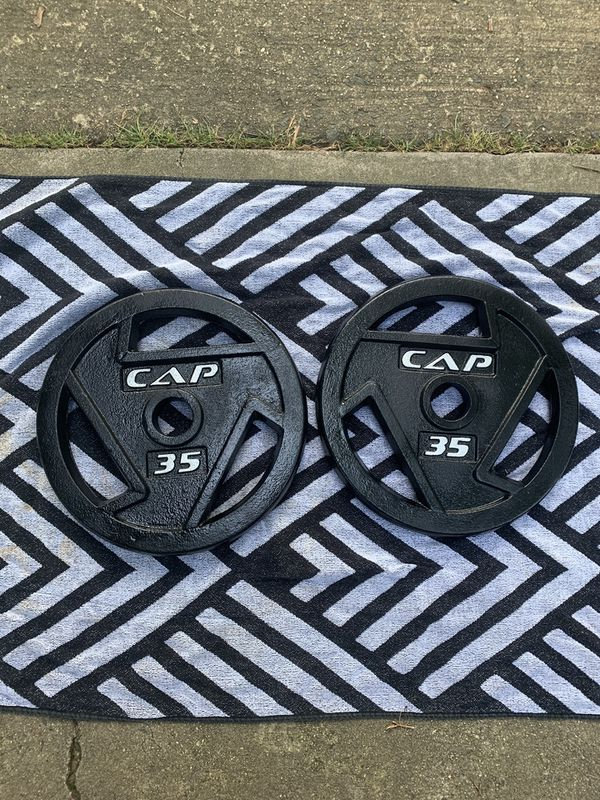 CAP Barbell Weight Plates 35lb Pair