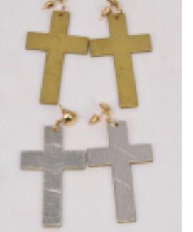 Dozen Mixed Gold n Silver Cross Earrings for Sale in Parkville, MD