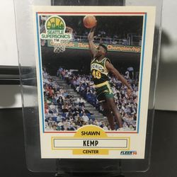 1990 - 1991 Fleer Shawn Kemp Seattle Supersonics #178 Basketball Card for Sale in Hillside,  IL