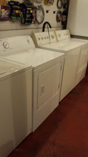 Washer and dryer set excellent condition 4months warranty $299 and up for Sale in Halethorpe, MD