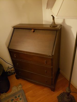 Antique Solid Mahogany Slant Top Desk-$90 for Sale in Fontana, CA