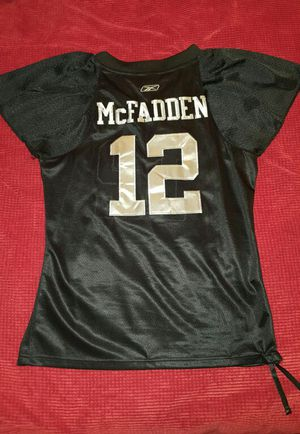 Authentic stitched Raiders Mcfadden jersey *MISPRINTED #* for Sale in Leavenworth, WA