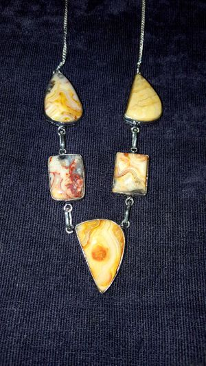 Beautiful Mexican Crazy Lace Agate Gemstone Necklace for Sale in Newport, TN