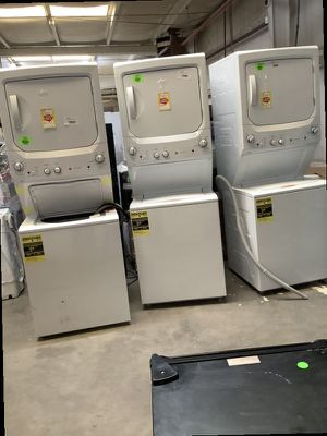 Stacked washer and Dryer ✅👍🏻‼️ 🤩 ( NO CASH ) CARD ONLY prices starting as low as $900 and UP ‼️ 4B9BC for Sale in Dallas, TX